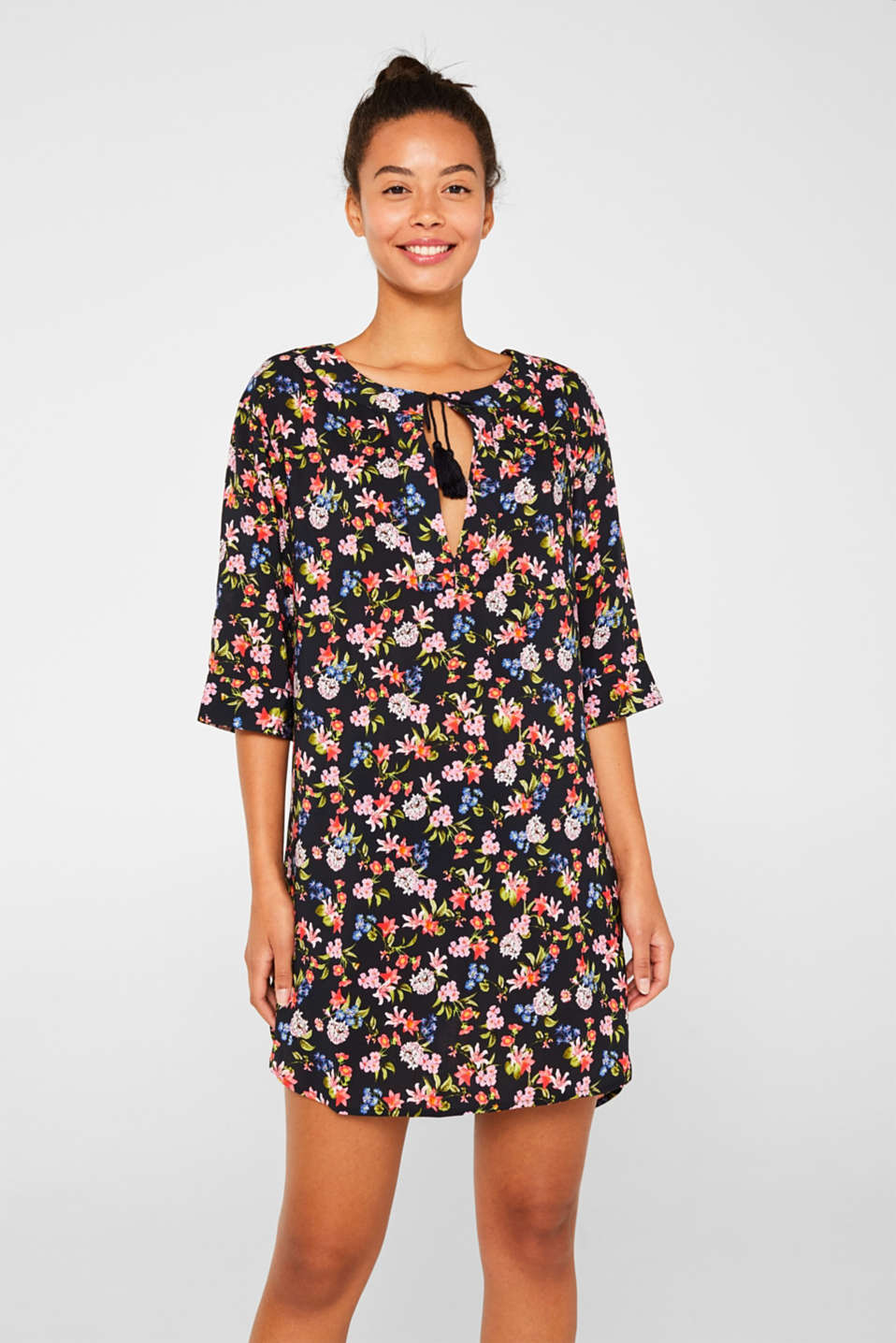 Esprit - Tunic with a colourful floral print