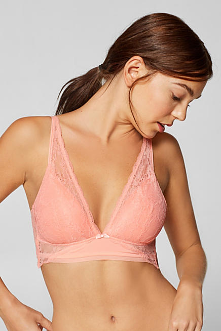 366fa648b7 Padded non-wired lace bra