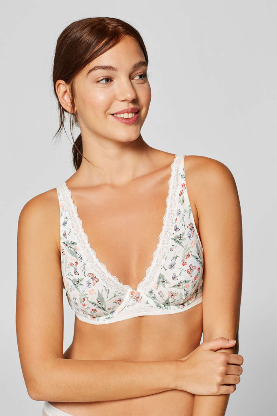 Esprit - Unpadded underwire bra with wide straps