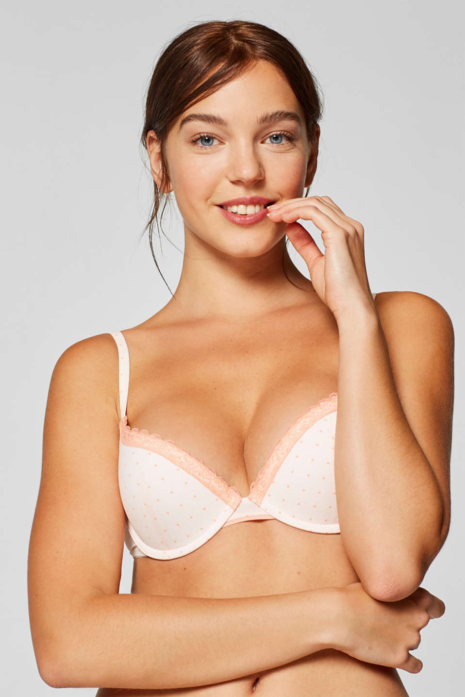 Esprit - Push-up bra with a polka dot print