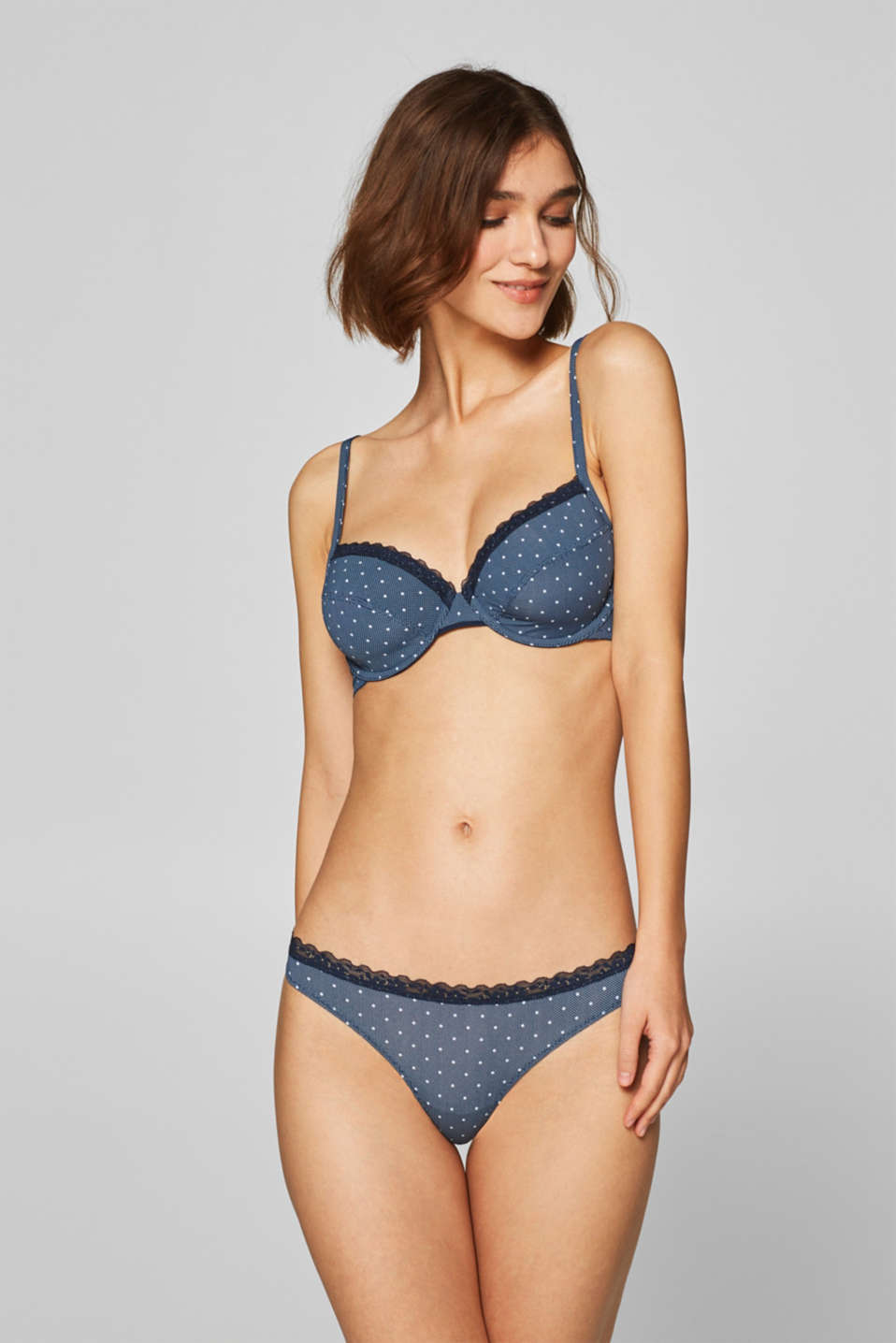 Esprit - Hipster thong with polka dot print