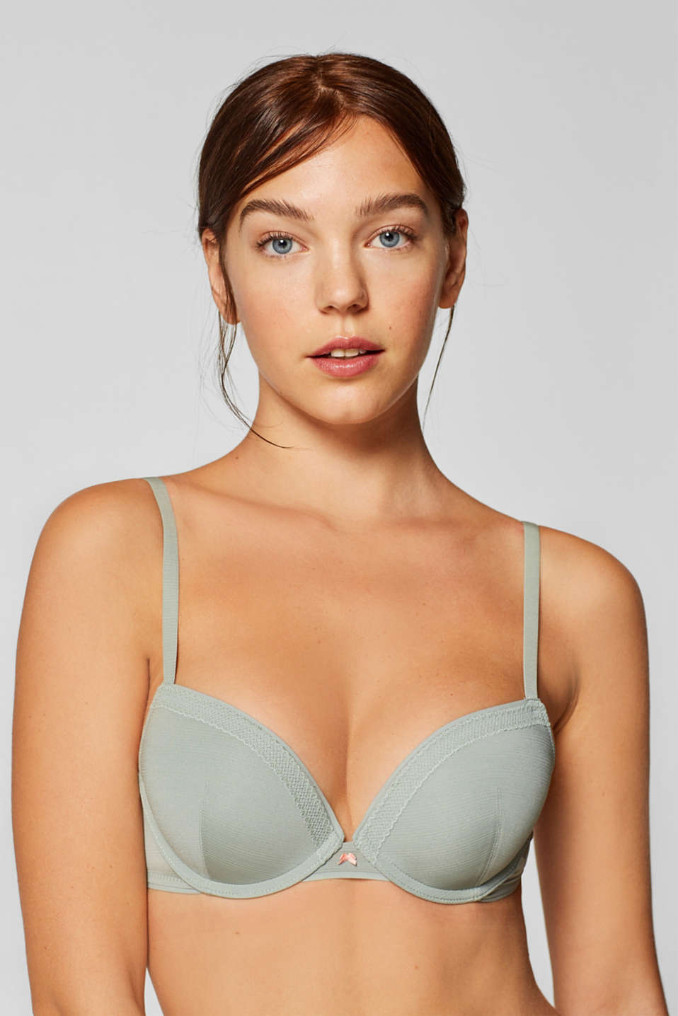 Esprit - Heavily padded push-up bra with a jacquard pattern