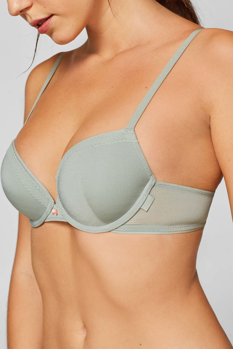 Bras with wire, LIGHT KHAKI, detail image number 2