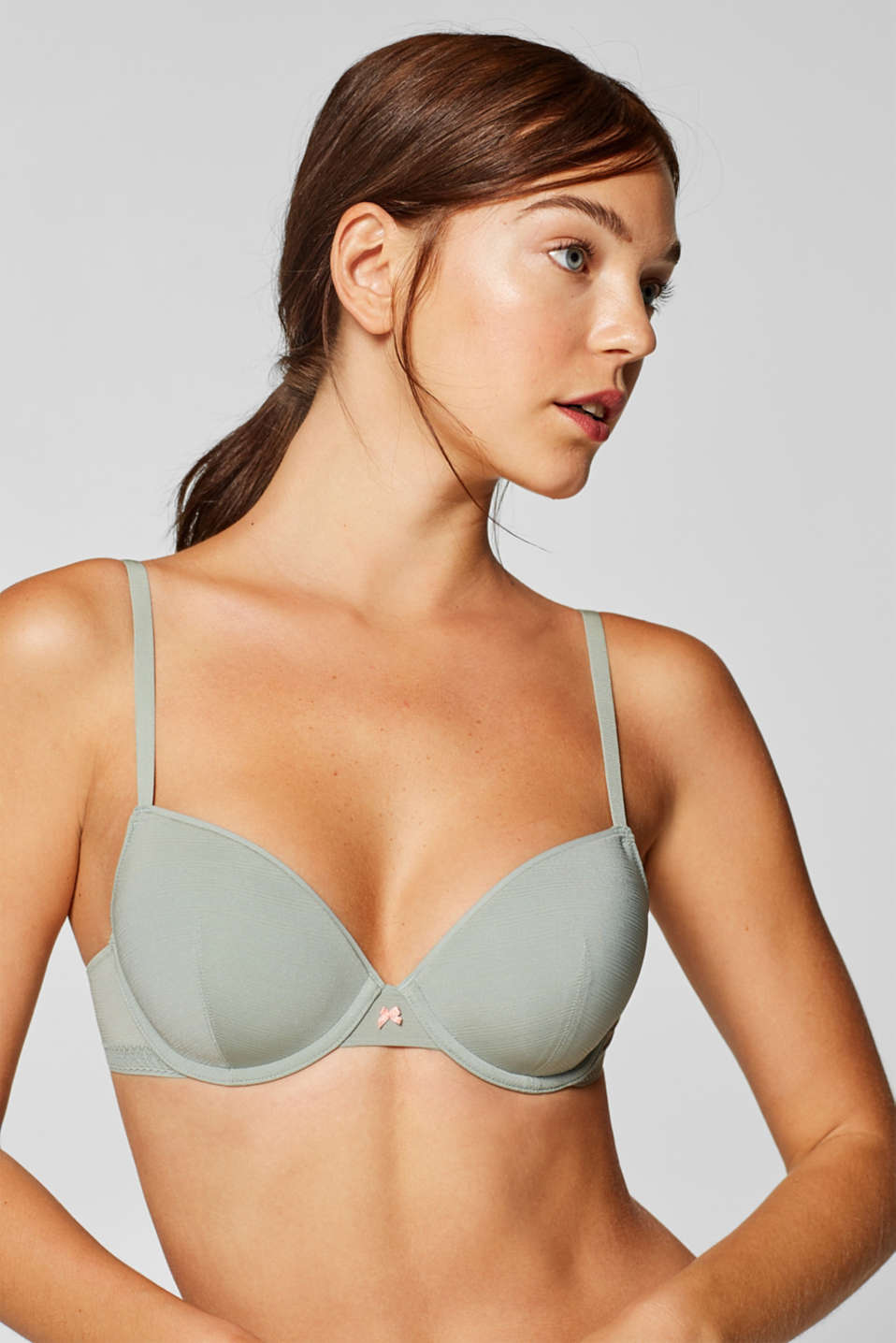 Esprit - Padded underwire bra with jacquard pattern