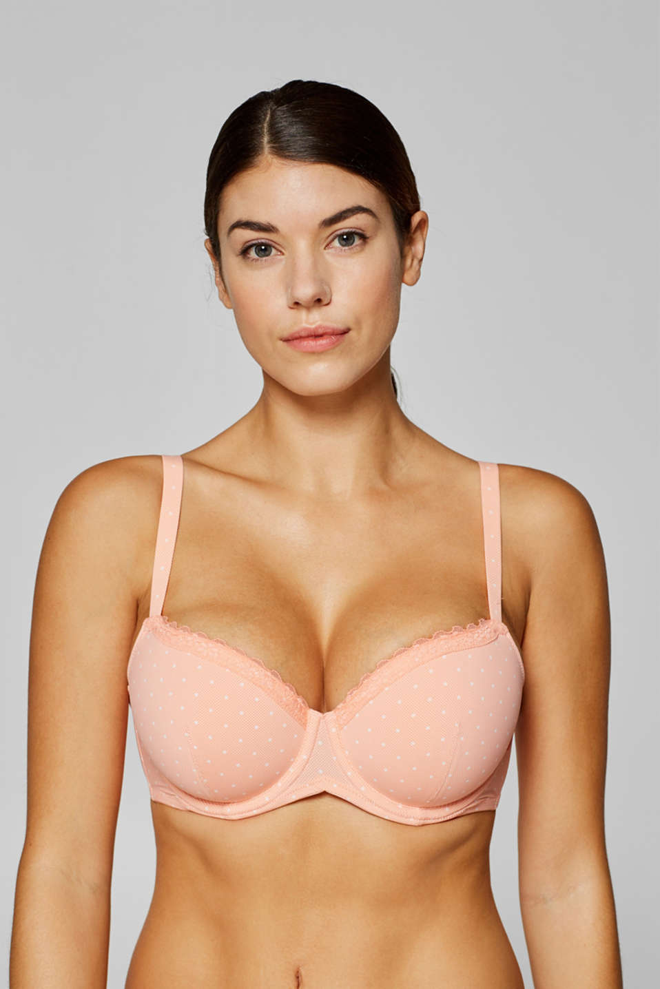 Esprit - Padded underwire bra with print for big cups