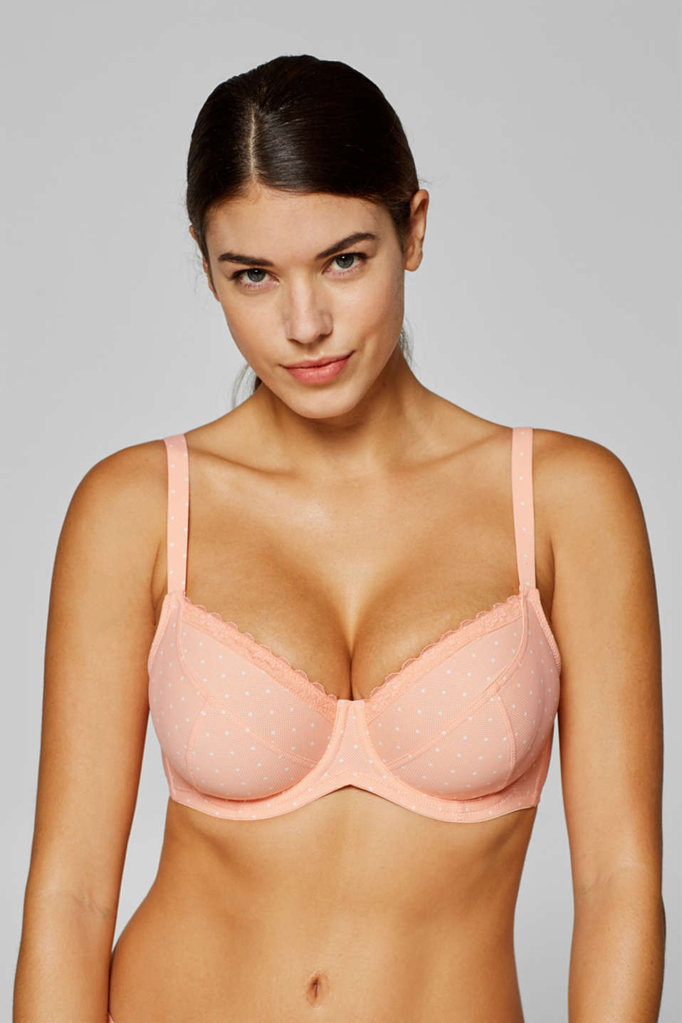 Esprit - Unpadded underwire bra with a print, made especially for larger cup sizes