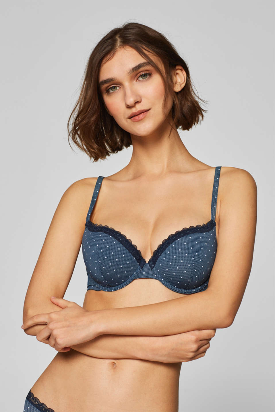 Esprit - Padded, underwire bra with multi-way straps