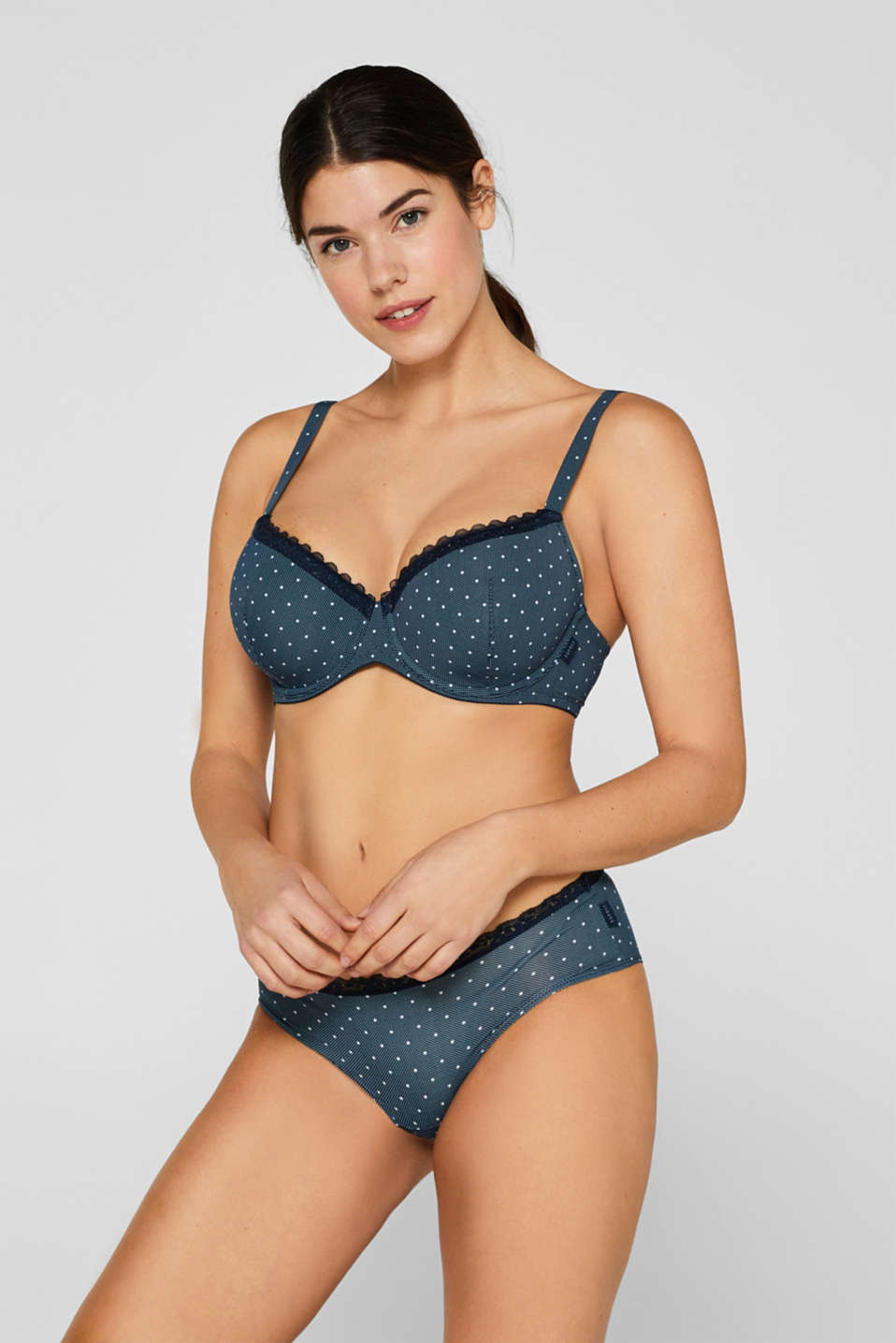 Esprit - Padded underwire bra with print