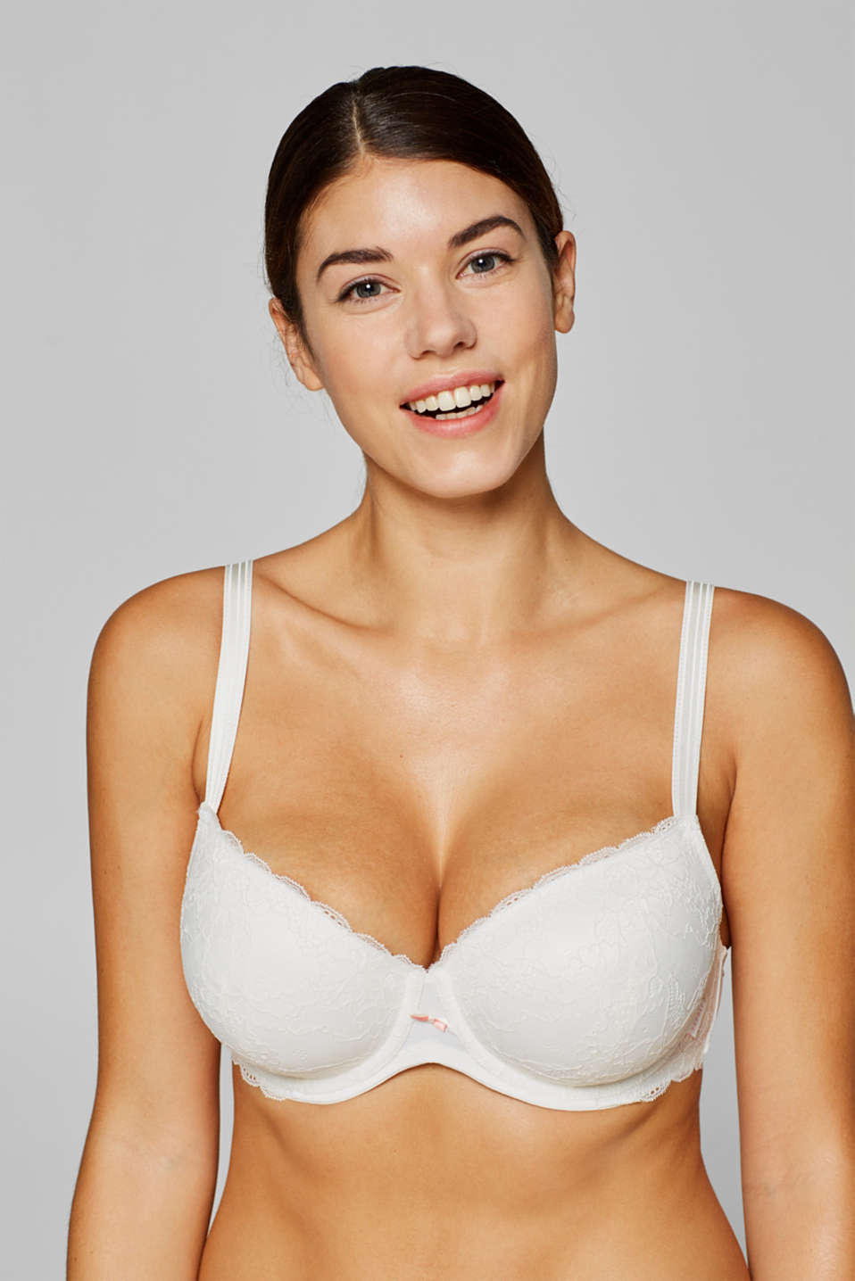 Esprit - Padded underwire bra in lace for big cups