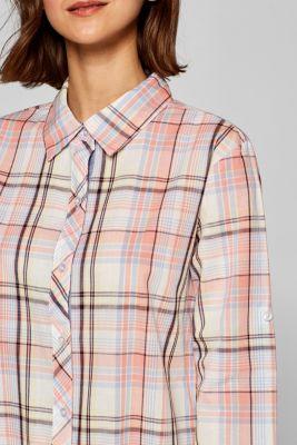 Check nightshirt made of lightweight fabric, 100% cotton