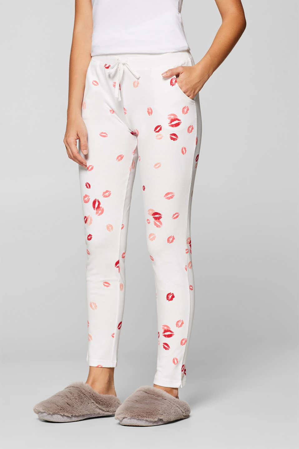 Esprit - Jersey bottoms with a pout print