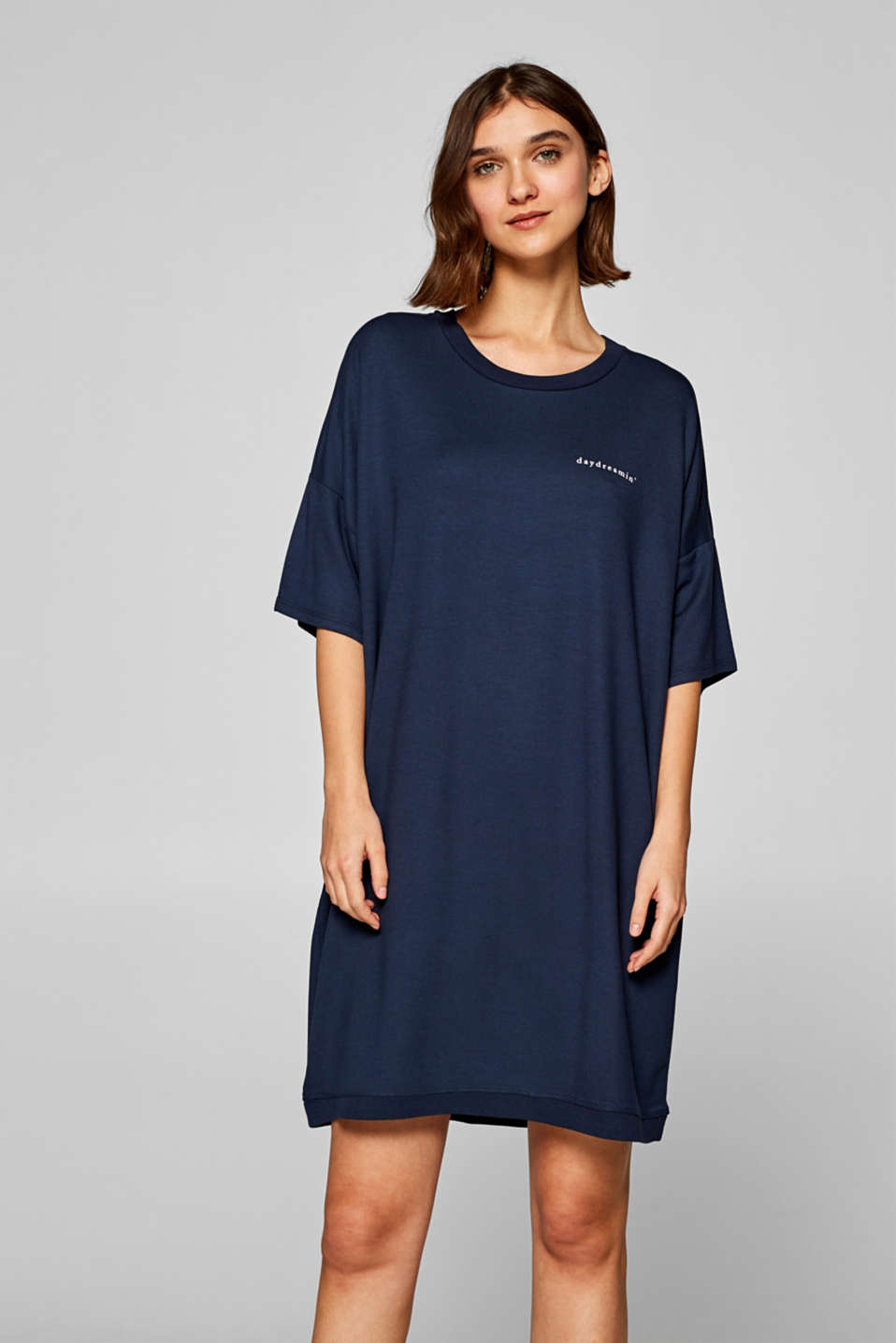Esprit - Oversized nightshirt in thick stretch jersey
