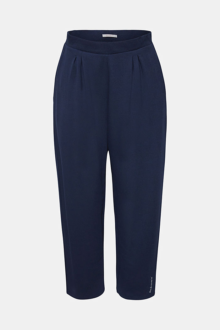 Oversized trousers in thick stretch jersey