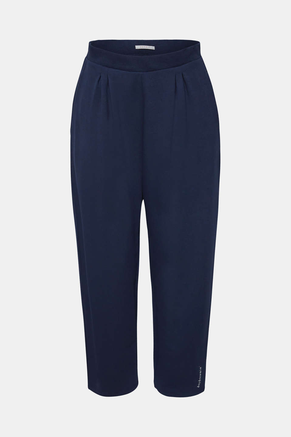 Oversized trousers in thick stretch jersey, NAVY, detail image number 4
