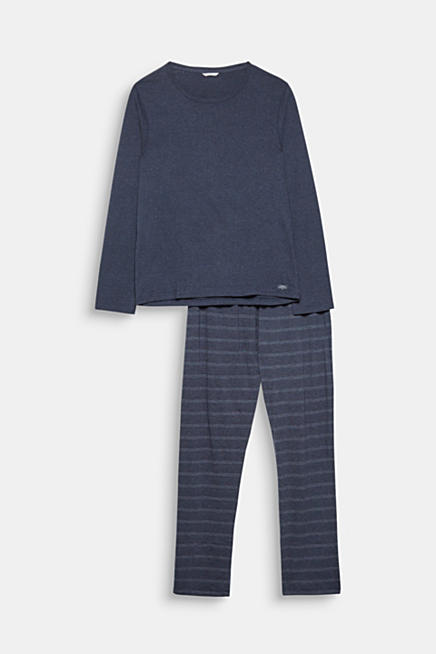 Jersey pyjamas made of soft blended cotton. Blue NAVY