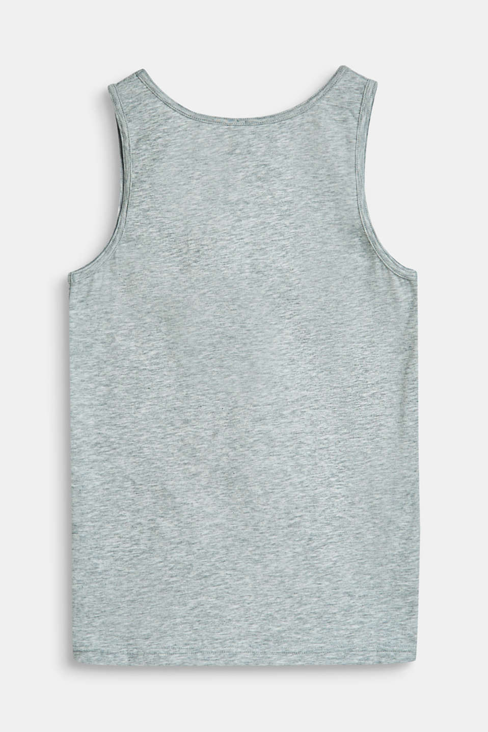 Stretch cotton vest with a cool print, LIGHT GREY, detail image number 1