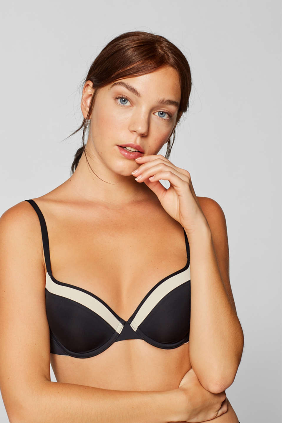 Esprit - NYE padded underwire bra in a two-tone look