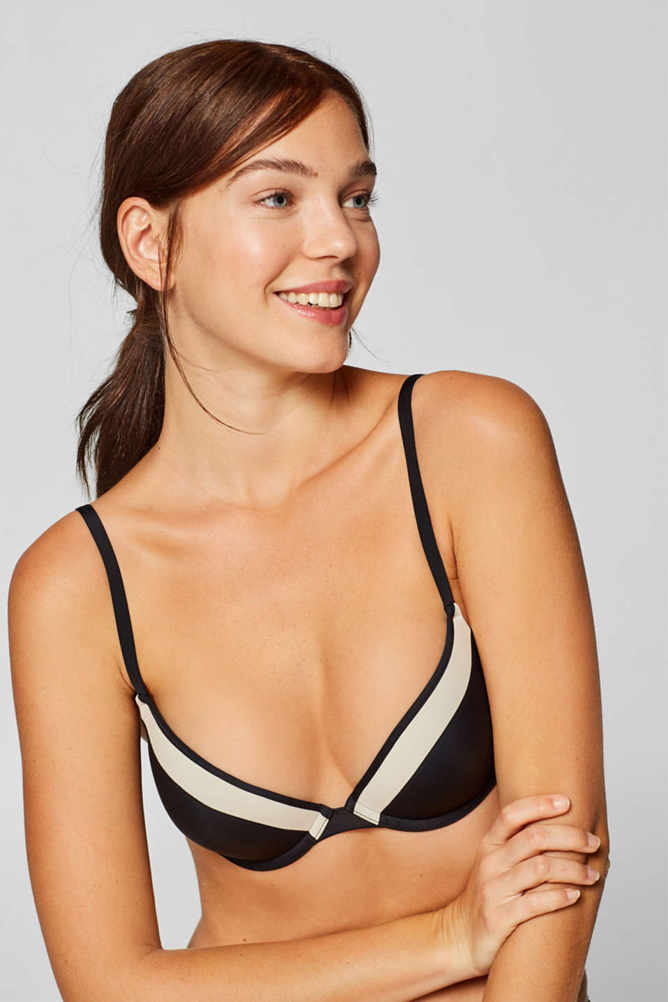 Esprit - NYE heavily padded push-up bra in a two-tone design