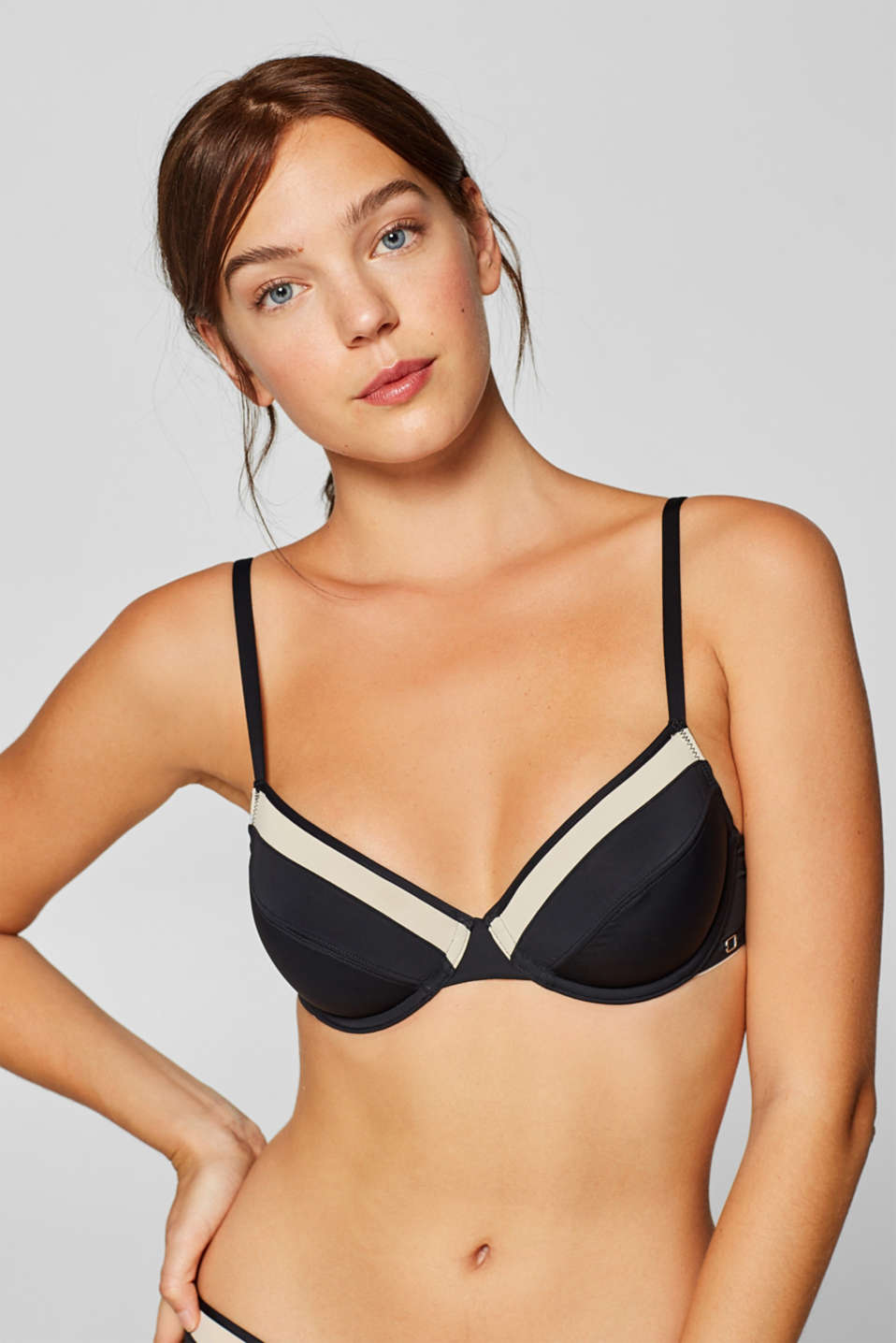 Esprit - NYE unpadded underwire bra in a two-tone look