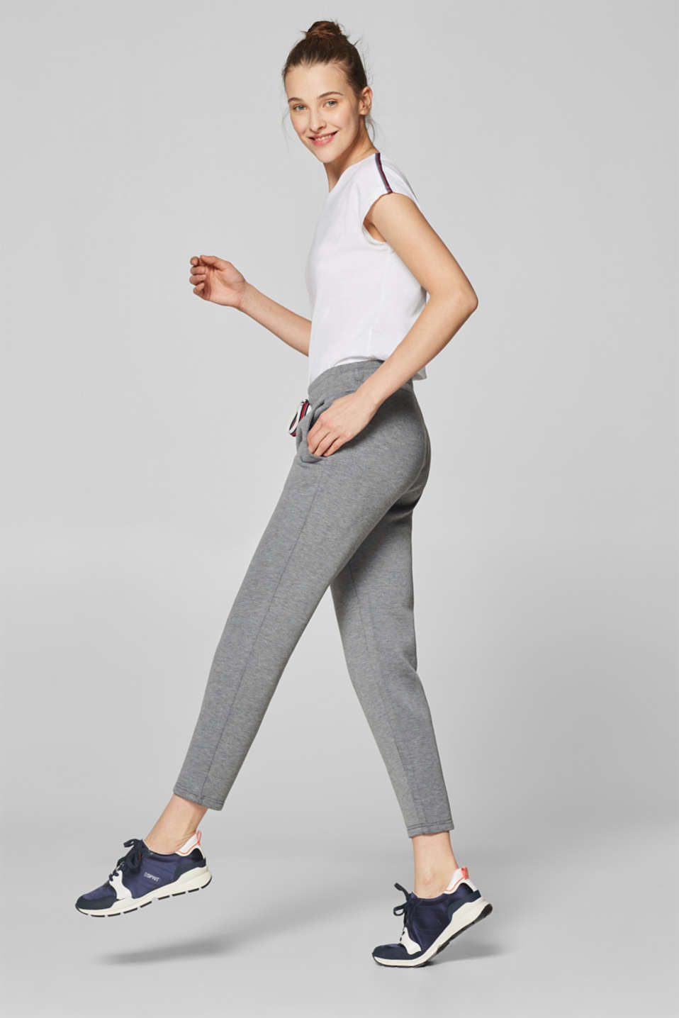 Esprit - Sweat-Pants aus kompaktem Jersey-Stretch