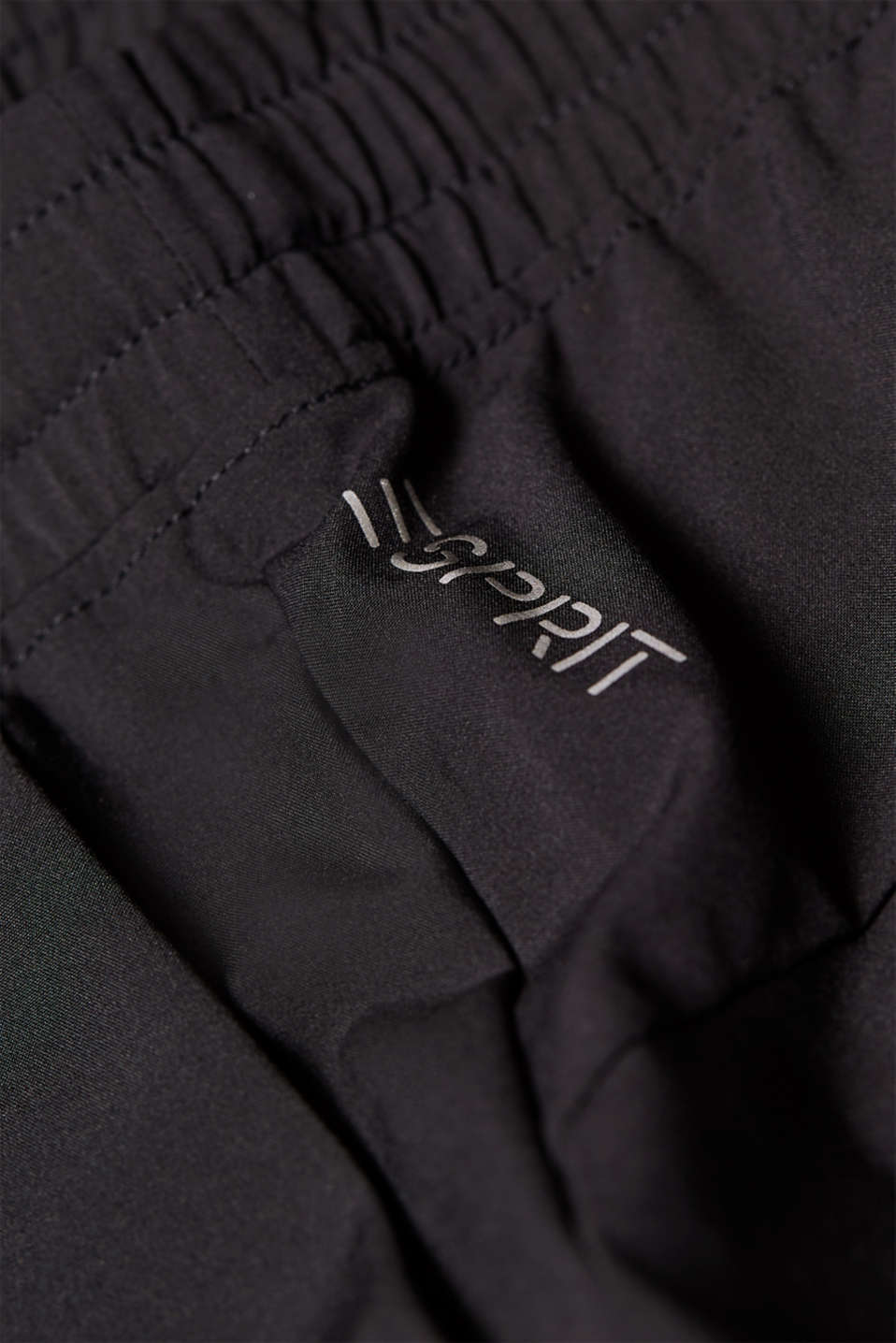 Lightweight woven trousers with turn-up hems, E-DRY, BLACK, detail image number 3