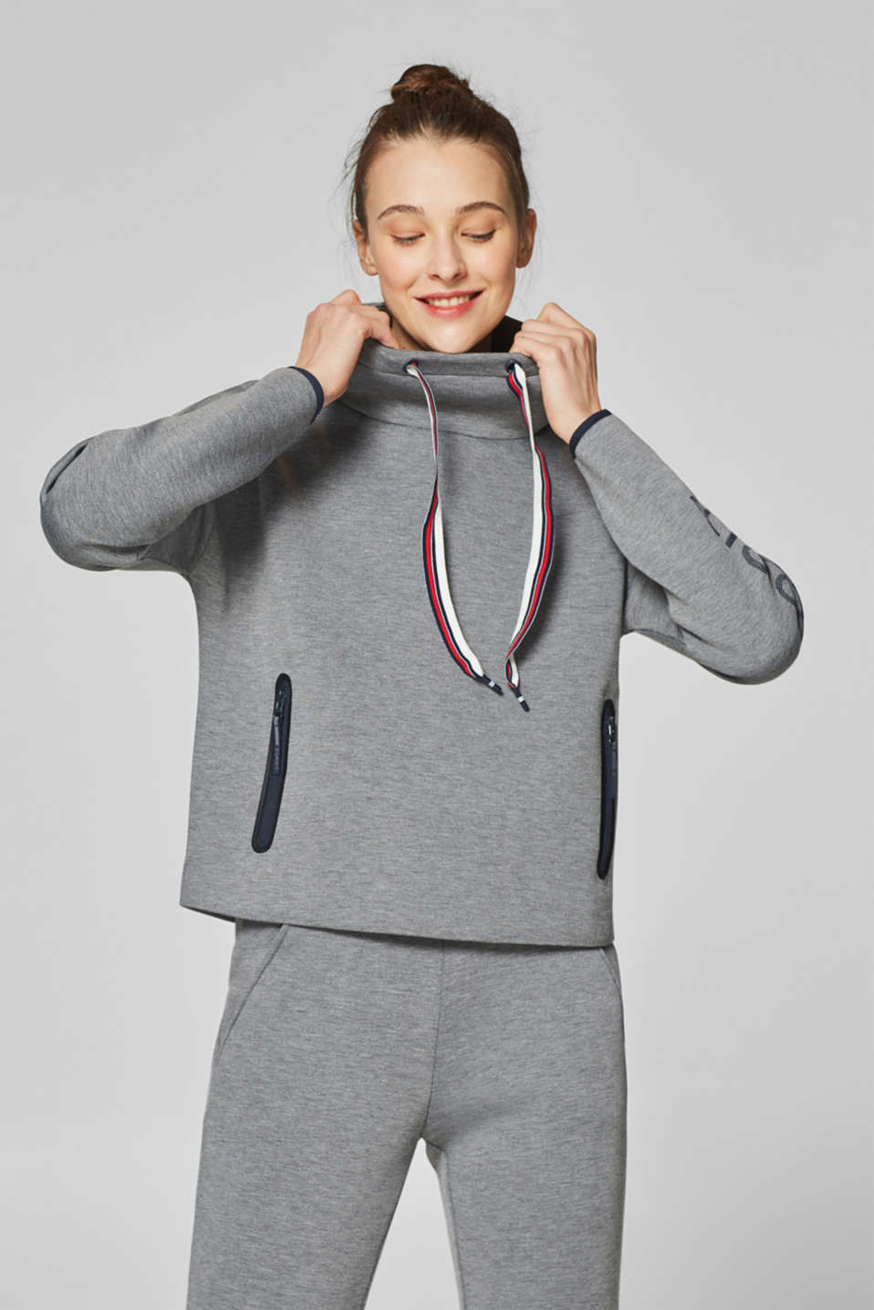 Esprit - Sweatshirt in compact double-faced jersey