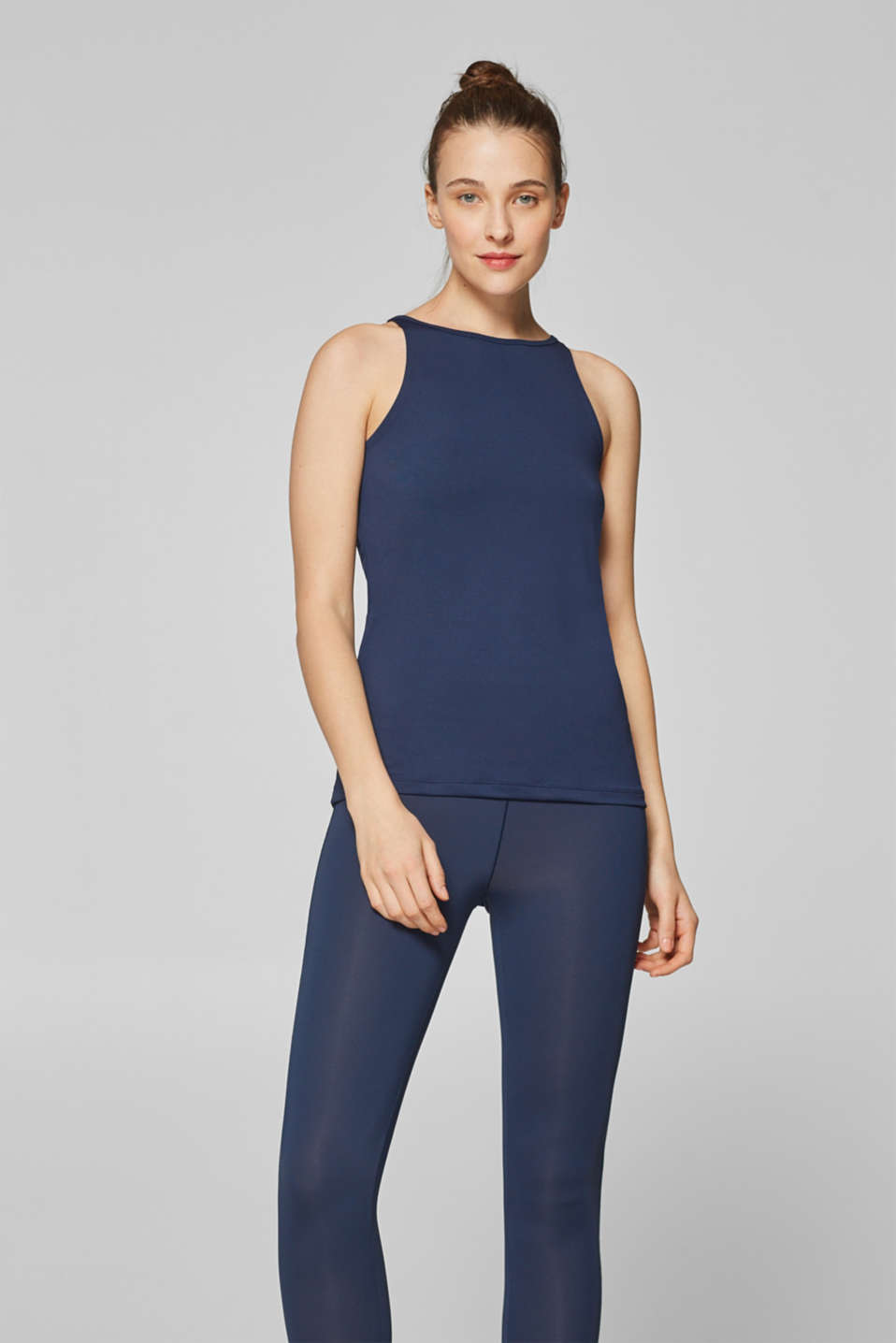 Esprit - Active top met logoprint, E-DRY