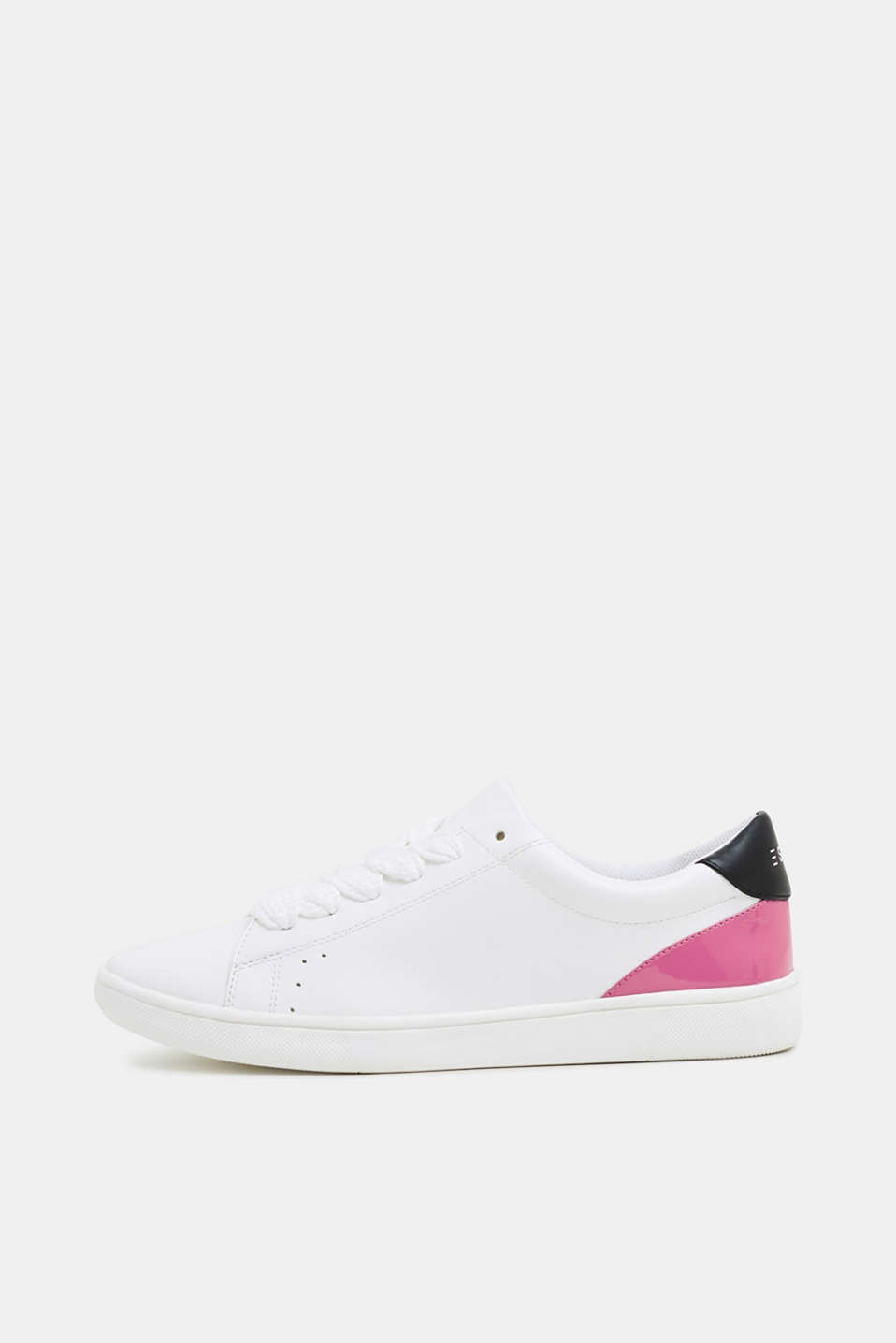 Esprit - Trendy trainers with patent leather detail, in faux leather