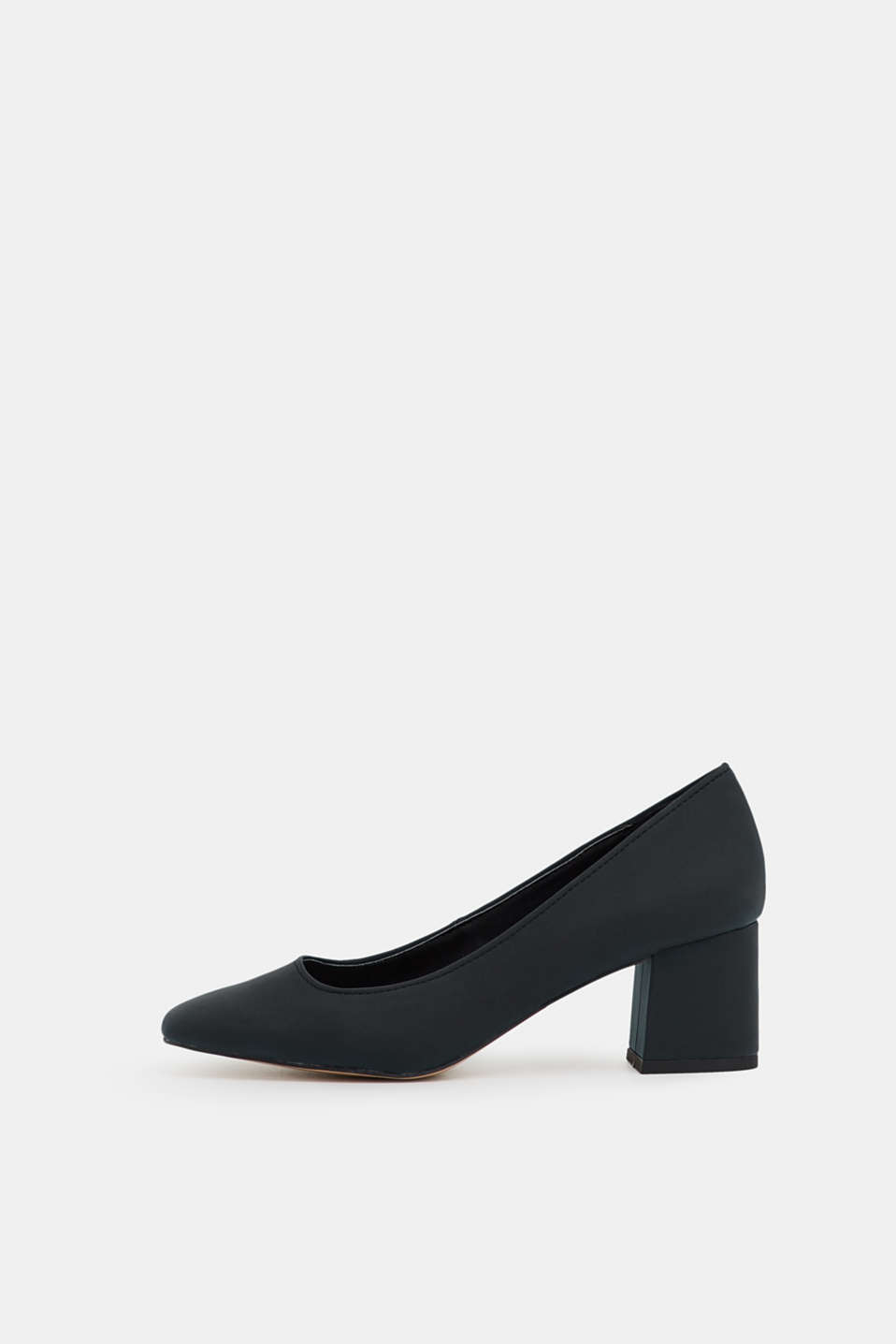 Esprit - Court shoes with a block heel, in faux nubuck