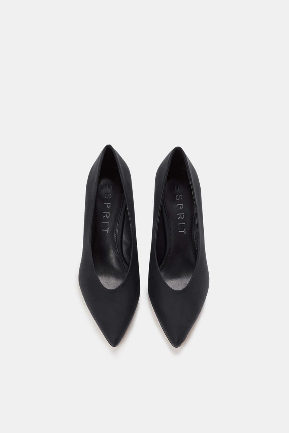 Imitation nubuck court shoes, BLACK, detail image number 1