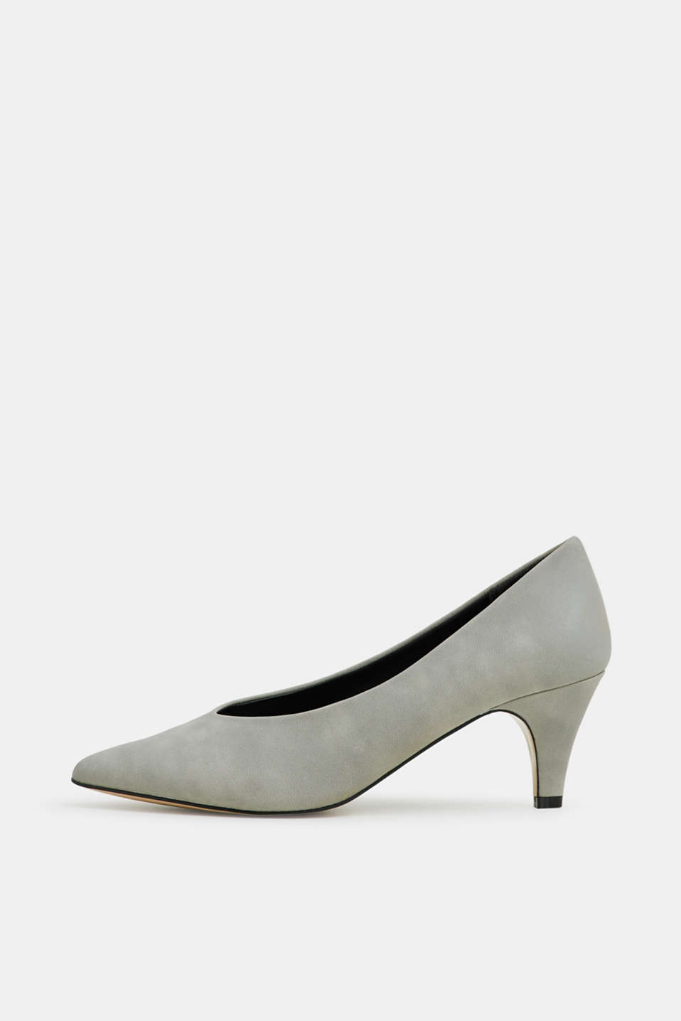 Esprit - Imitation nubuck court shoes
