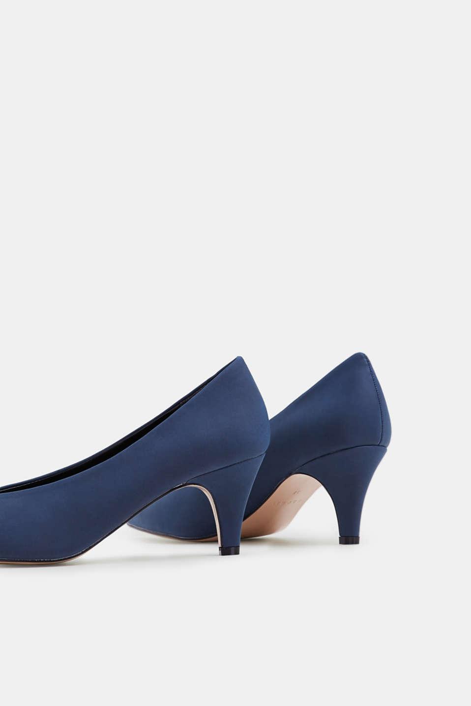 Imitation nubuck court shoes, NAVY, detail image number 5