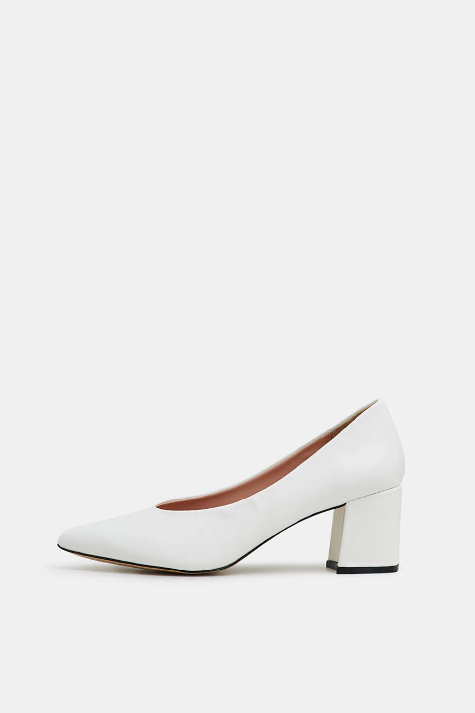 Esprit - Court shoes with a block heel, in faux leather