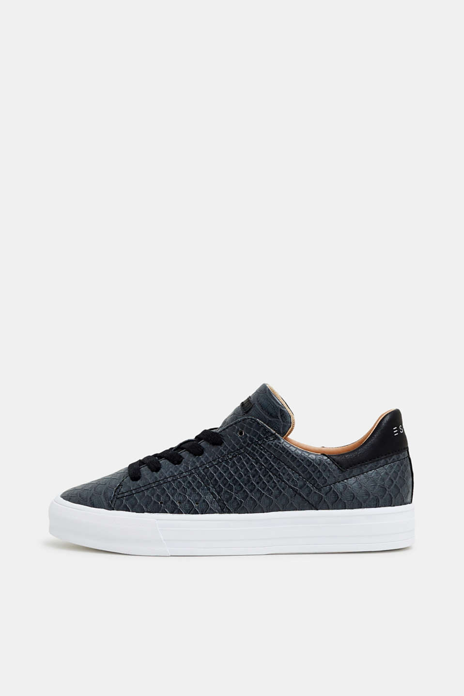 Esprit - Reptile look lace-up trainers