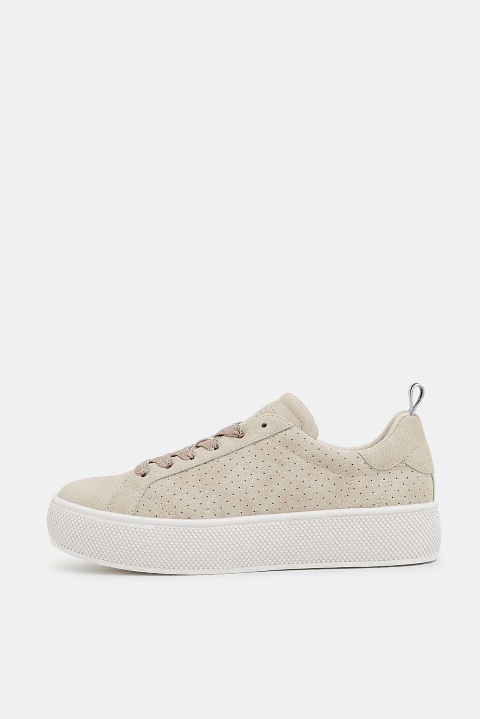 Esprit - Plateau-Sneaker in Nubuk-Optik