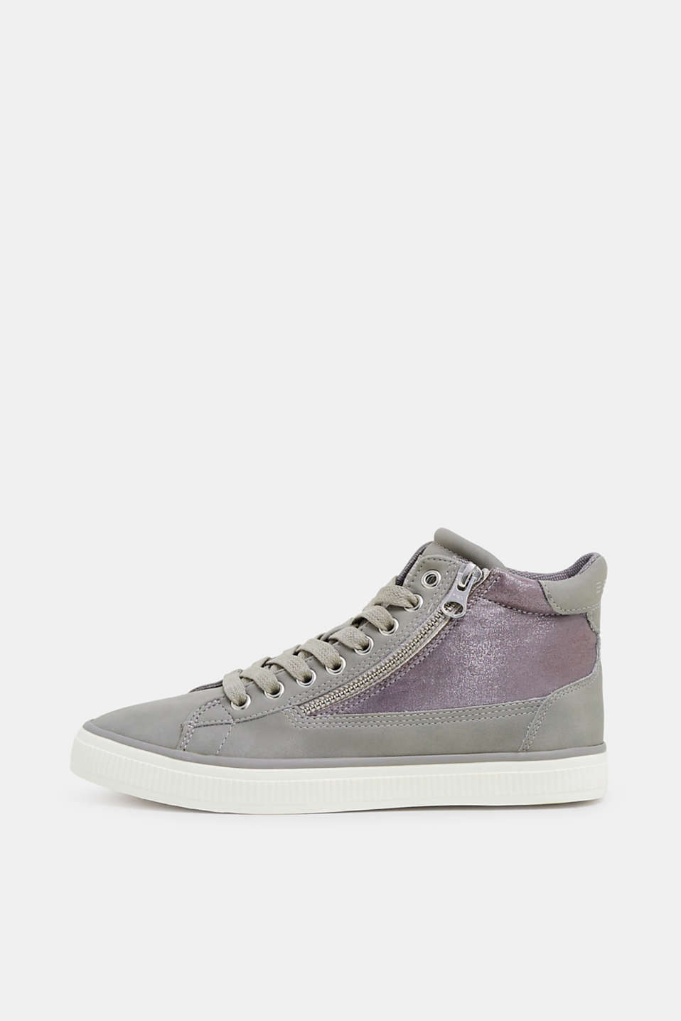 Esprit - High Top-Sneaker mit Metallic-Detail