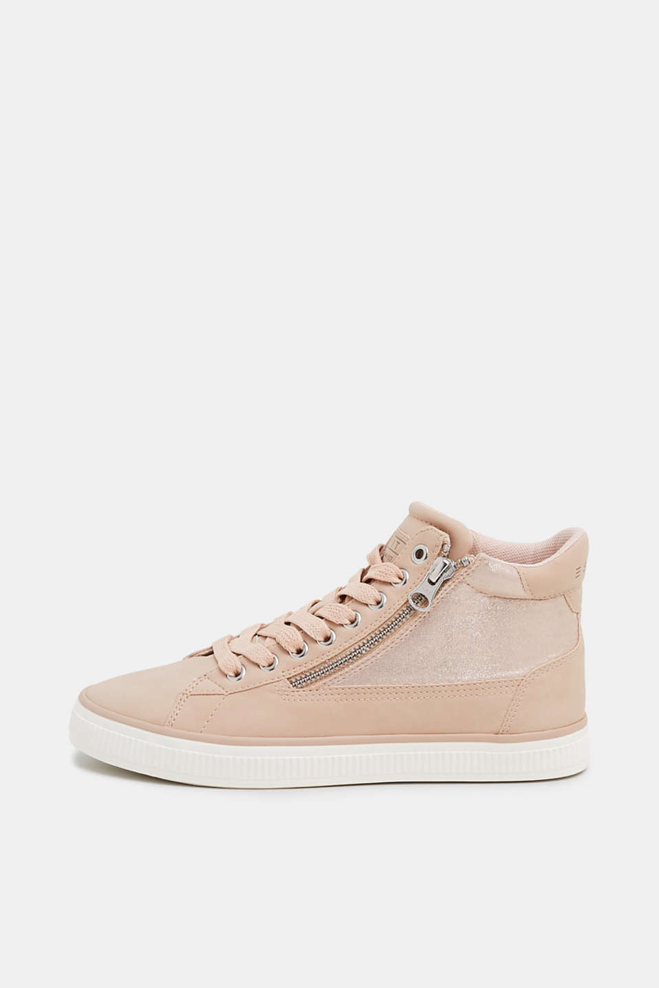 Esprit - High-top trainers with metallic detail