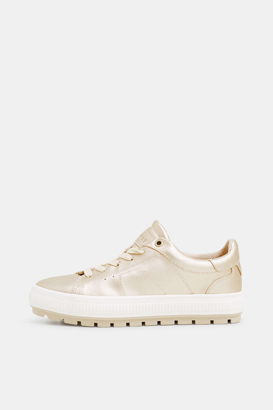 Esprit - Metallic trainers in faux leather