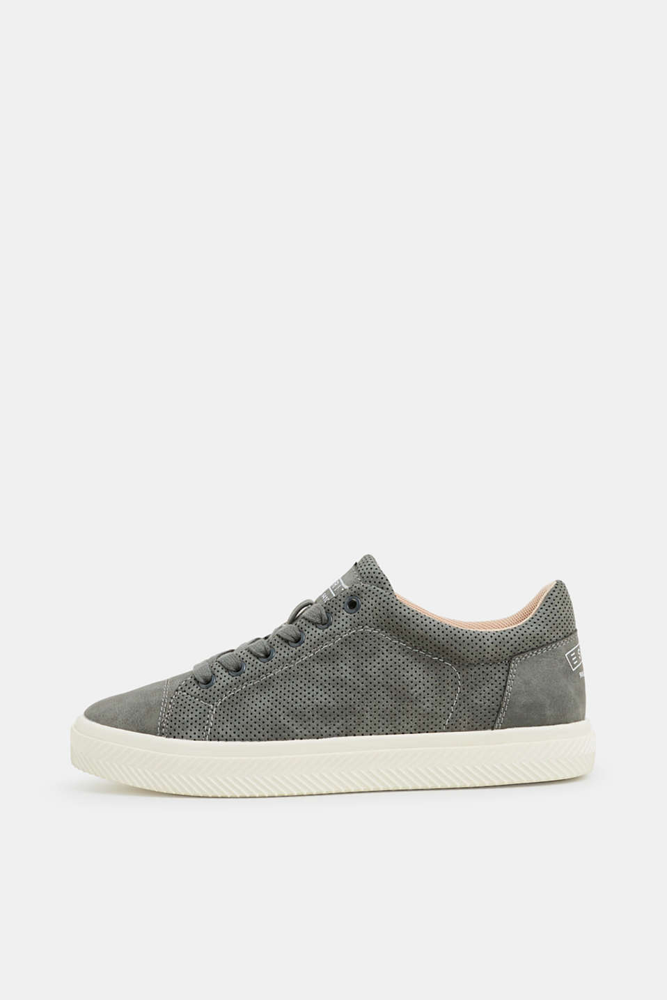 Esprit - Perforated faux nubuck trainers