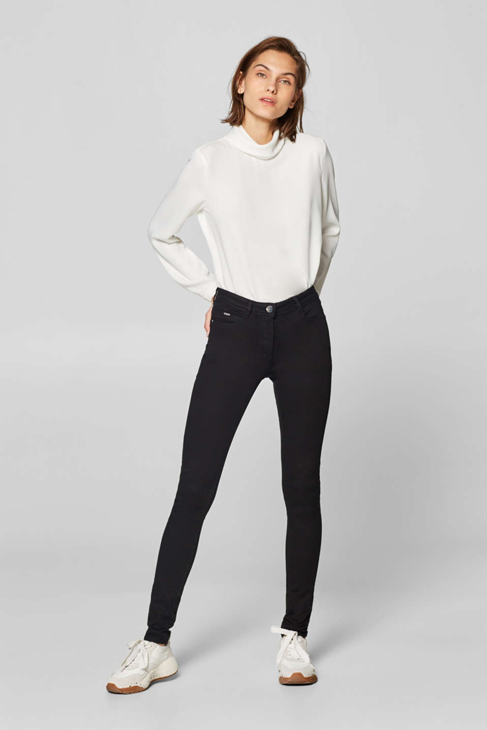 Esprit - Pantaloni modellanti con stretch 4-way