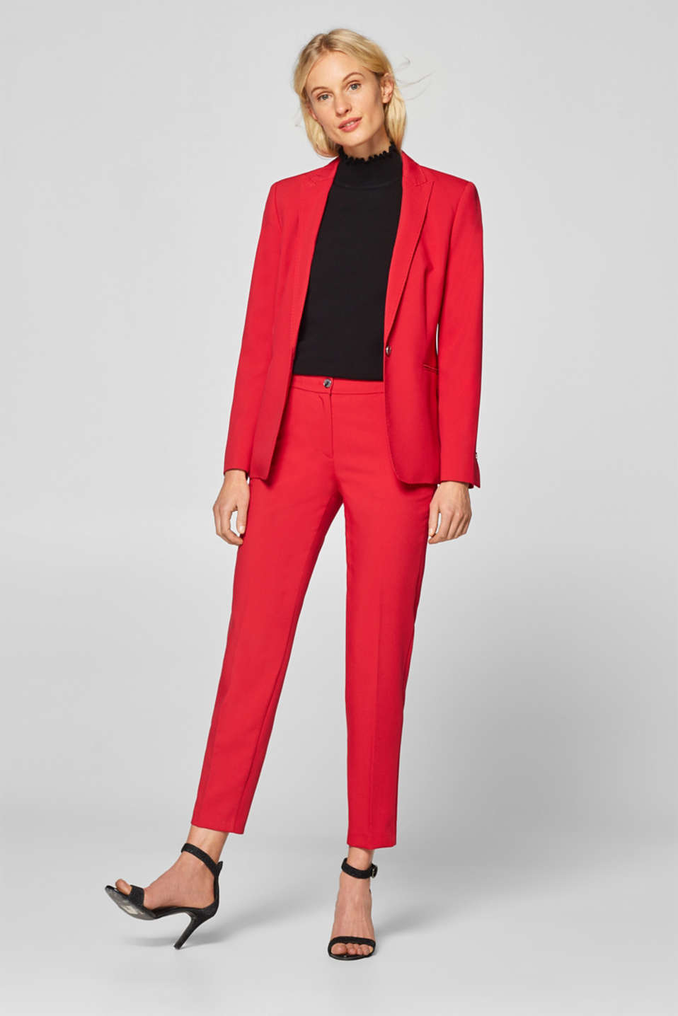 Esprit - STITCHING mix + match stretch trousers with decorative stitching