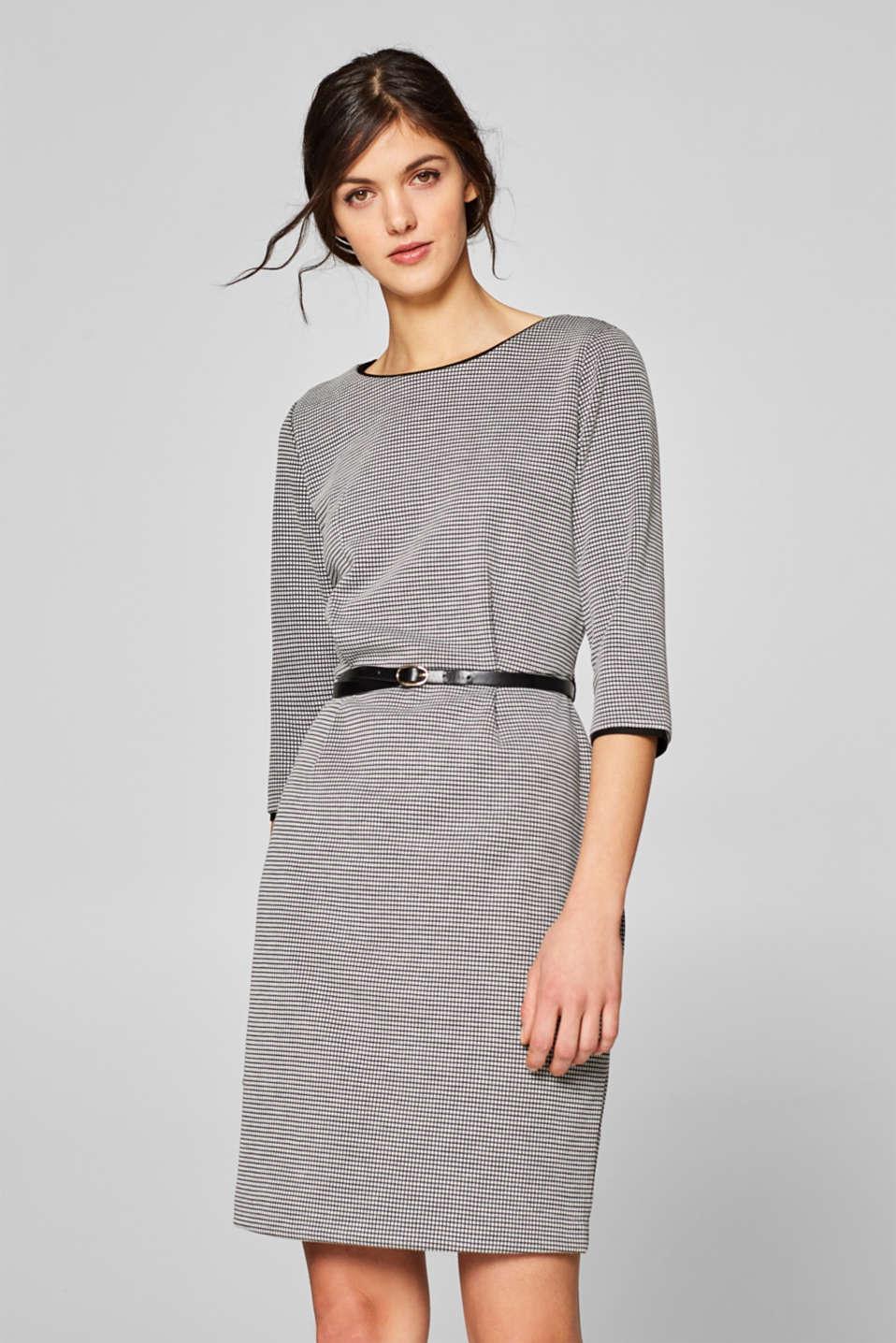 861775b8e3e1 Esprit - Ternet jerseystretch-kjole med bælte i Esprits Online-Shop