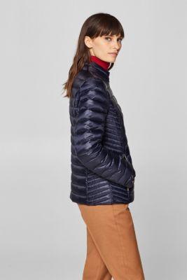 d3a5ce24f5ff7 Esprit - Lekka puchowa kurtka z detalami w złotym kolorze w naszym ...