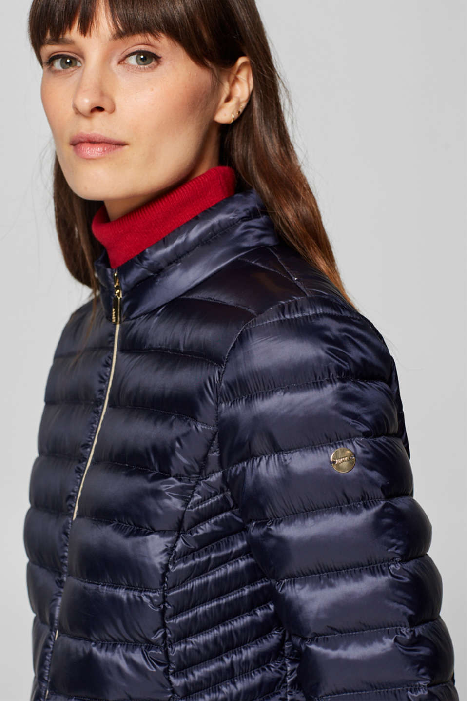 Esprit - Lightweight down jacket with gold-coloured zips