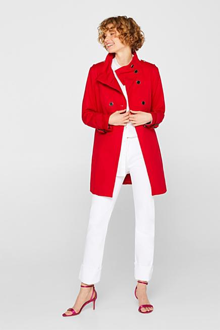 42ef1574a67 Trench-coat en coton stretch à col droit