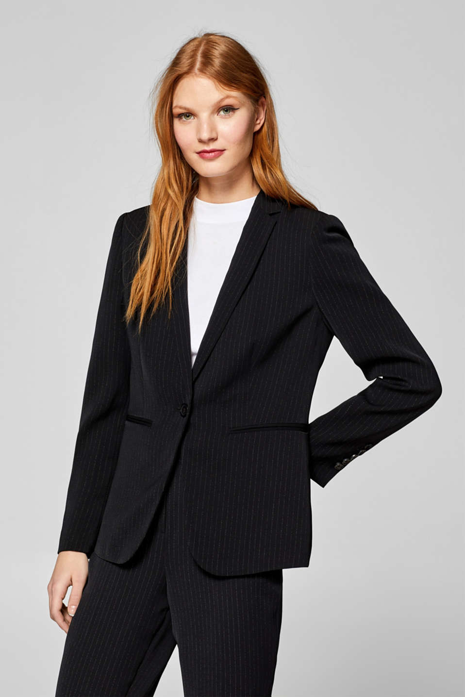 Esprit - PINSTRIPED Mix + Match fitted blazer
