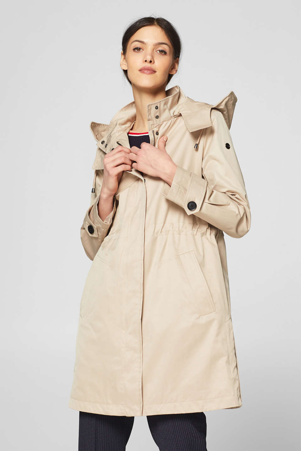 Esprit - Practical parka made of blended cotton