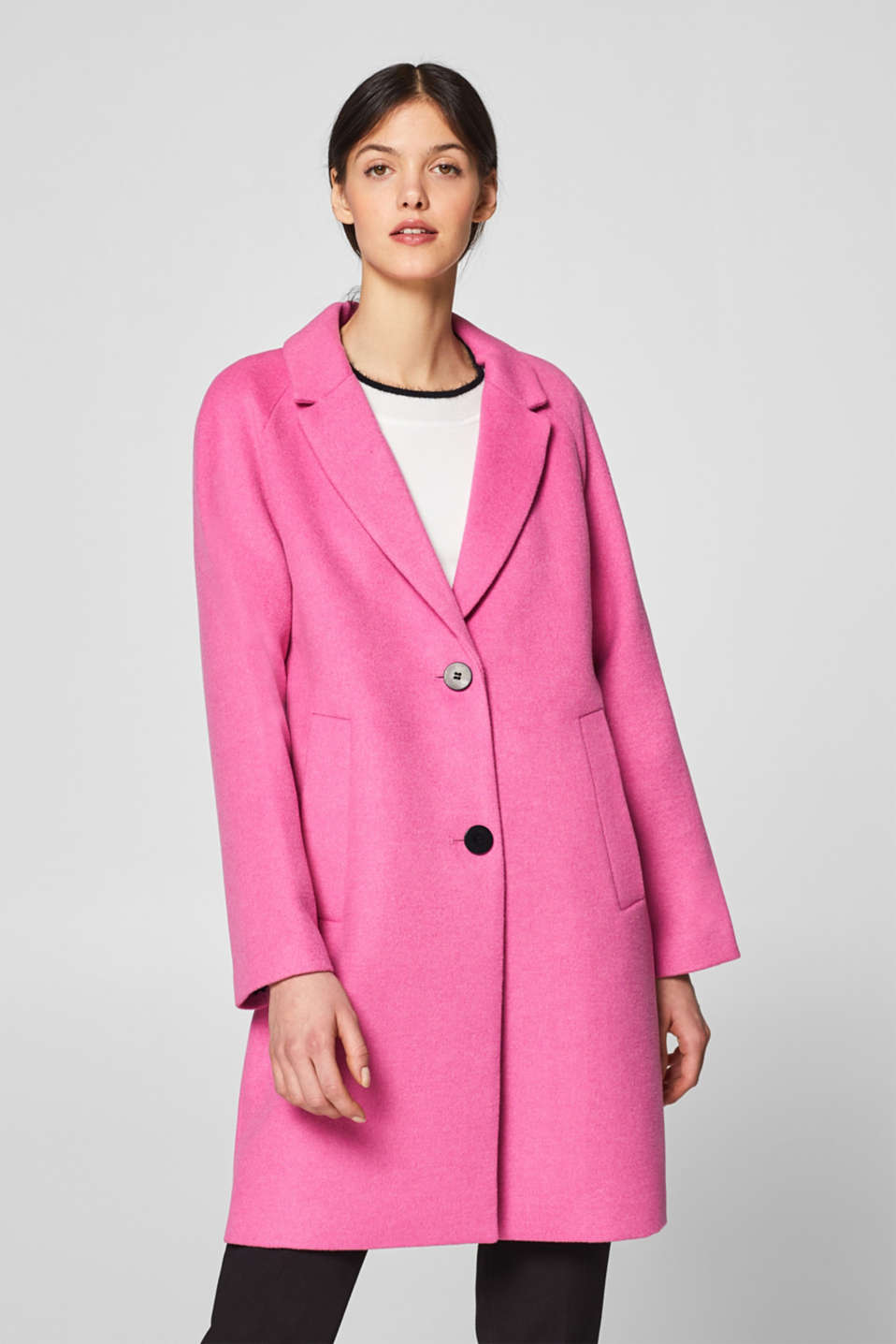 Qualitätsprodukte neue Kollektion vollständig in den Spezifikationen Esprit - Mit Wolle: Blazer-Mantel aus softem Material-Mix im ...