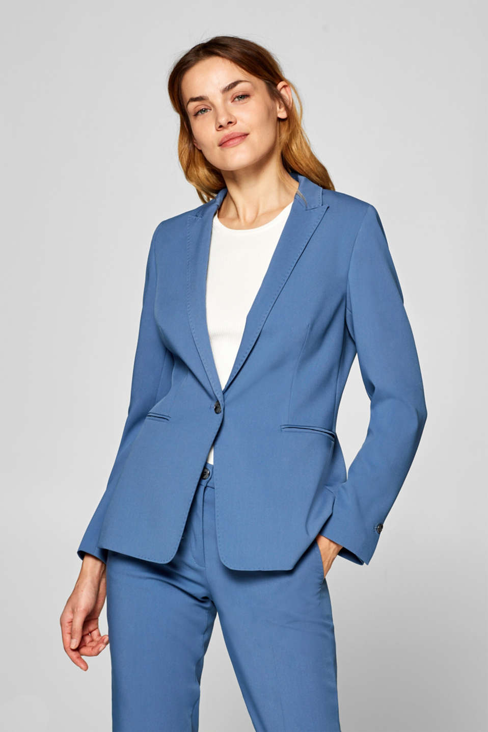 Esprit - STITCHING mix + match stretch blazer