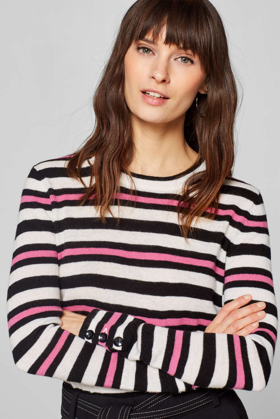 Esprit - Cashmere blend: button detail jumper